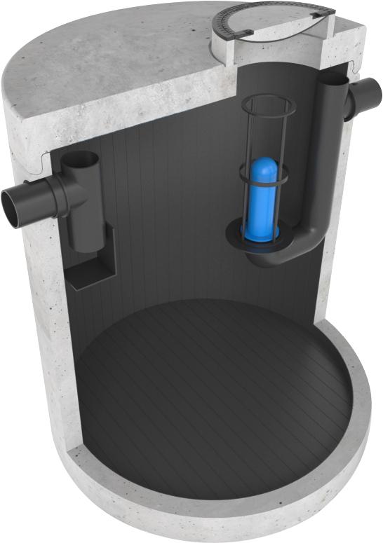 Olieafscheider beton met PE T-Grip lining AMT