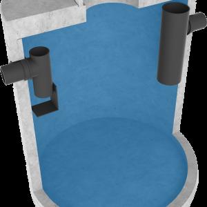 vetafscheider gecombineerd met slibvang
