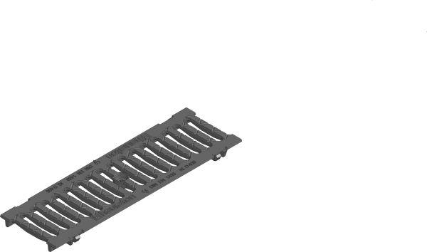 Gietijzeren sleuvenrooster D400 B=100 L=500 AMT