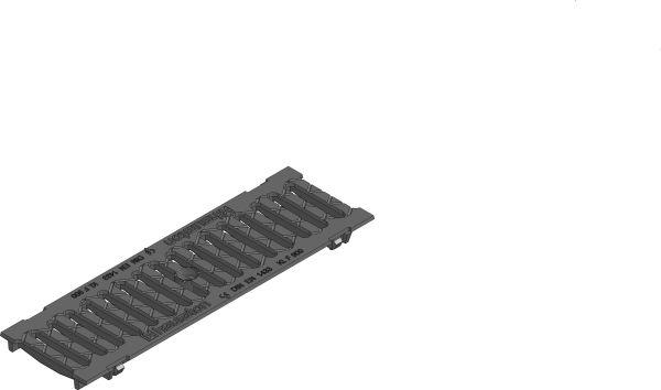 Gietijzeren sleuvenrooster F900 B=100 L=500 AMT