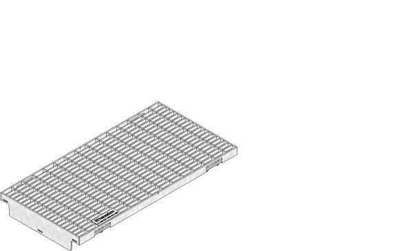 Verzinktstalen mazenrooster C250 B=200 L=500 AMT