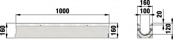 Detail Tekening AMT50 B=100 draingoot