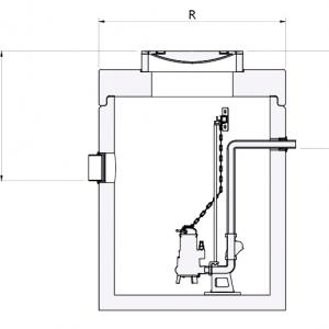 Enkelpomps Pompput beton AMT