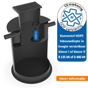 Slib-olieafscheider kunststof HDPE AMT