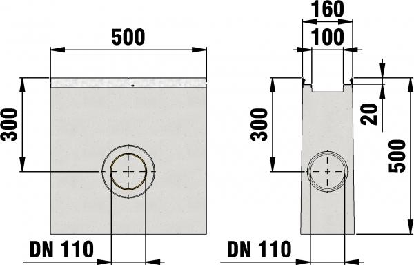 Detail Tekening AMT50 B=100 - zandvanger