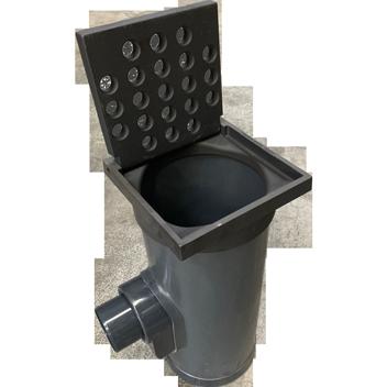 Straatkolk-PVC-Gietijzer-met ronde gaten-Aqua-Milieu-Techniek