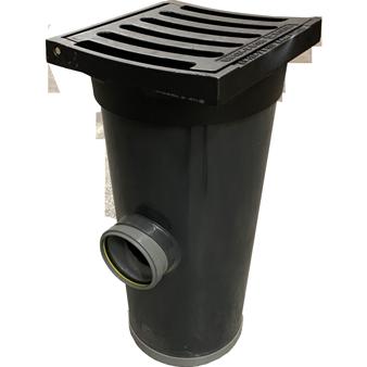 Straatkolk PVC/Gietijzer kop met extra aansluiting AMT