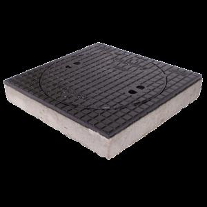 Putdeksel D400 AMT beton-gietijzer H=120
